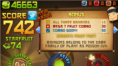 "Highest Score In Zen Mode Of ""Fruit Ninja"""