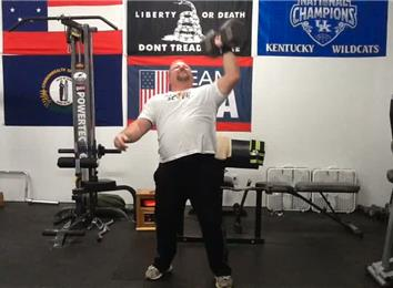 Most Consecutive 90-Pound Dumbbell Presses (Left Arm)