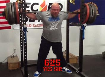 Heaviest Anderson Squat (Athlete Under 235 Lbs.)