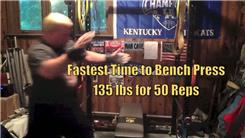 Fastest Time To Bench Press A 135-Pound Weight 50 Times