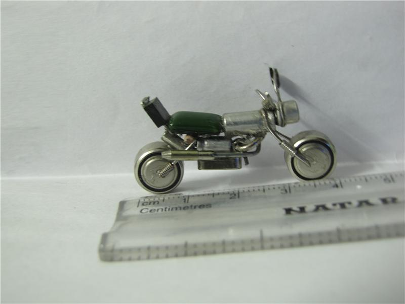 Smallest Motorcycle Model Made Of Recycled Materials