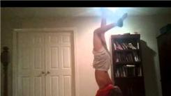 Most Recitations Of The English Alphabet While Doing A Handstand