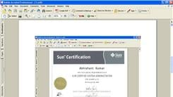 Most Sun Microsystems Certificates Received