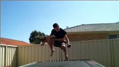 Most Front Drops To Back Drops On A Trampoline In 30 Seconds