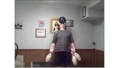 Most Catches Juggling Three Bowling Pins While Balancing Bowling Ball On Forehead