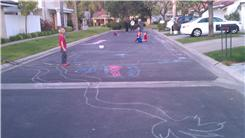 Largest Monster Drawn In Chalk
