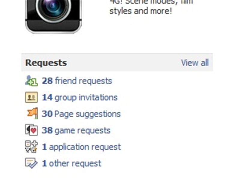 Most Pending Facebook Friend Requests