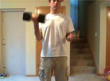 Most 25-Pound Dumbbell Curls While Juggling Two Balls