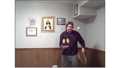 Most Consecutive Tennis Ball Bounces Using Alternating Sides Of Racket While Juggling Two Tennis Balls In Free Hand