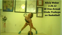 Most One-Armed Hindu Push-Ups On A Basketball