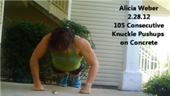 Most Consecutive Knuckle Push-Ups On A Concrete Floor