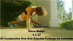 Most Consecutive One-Armed Push-Ups On Knuckles On Concrete