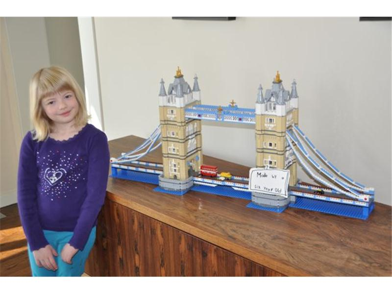 Youngest Person To Assemble The Lego London Tower Bridge
