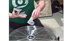 Most Triangle Cuts While Spinning A Playing Card On Another Card Using A Fan In 30 Seconds