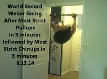 Most Pullups in 3 Minutes Followed by Most Chinups in 3 Minutes