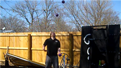 Most Catches Juggling Three Two-Pound Balls In One Hand In Columns