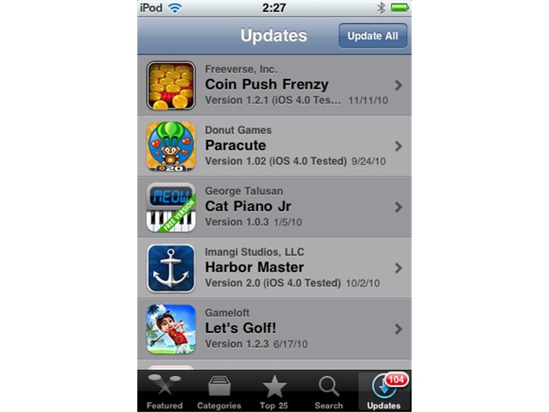 Most Apple App Store Updates