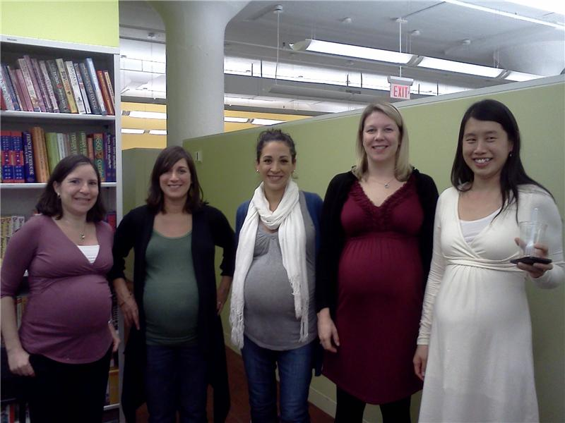 Most Pregnant Women Photographed Working At An Independent Publishing House
