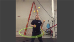 Longest Time To Juggle Five Balls While Hula Hooping