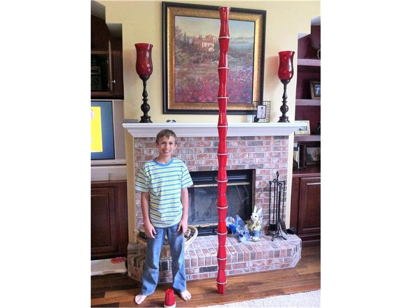 Tallest Plastic Cup Tower