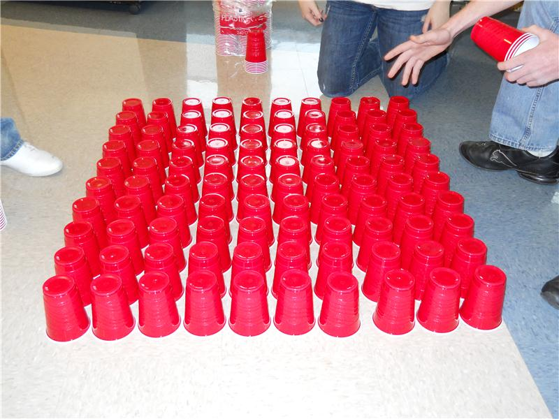 Largest Solo Cup Pyramid