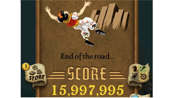 "Furthest Distance Run In A Single Game Of ""Temple Run"""