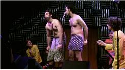 Most Articles of Clothing Removed By A Comedy Duo During A Three-Minute Stand-Up Set