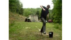 Fastest Time To Toss A Golf Ball Between Legs Into A Bucket At Distances Of One Foot To Eight Feet