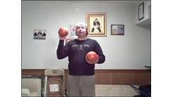 Most Consecutive Catches Juggling Three Five-Pound Exercise Balls In A Shower Pattern