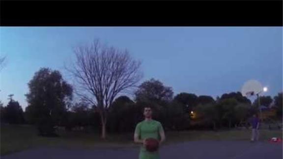 25 Foot Sitting Basketball Shot