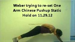 Longest One-Armed Chinese Push-Up Static Hold
