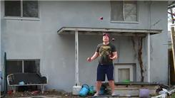 Most Catches Juggling Five Balls In A Half Shower Pattern While Balancing On A Rola Bola