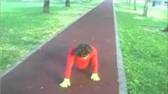 Fastest Time To Complete 100-Meter Plyometric Alligator Push-Ups