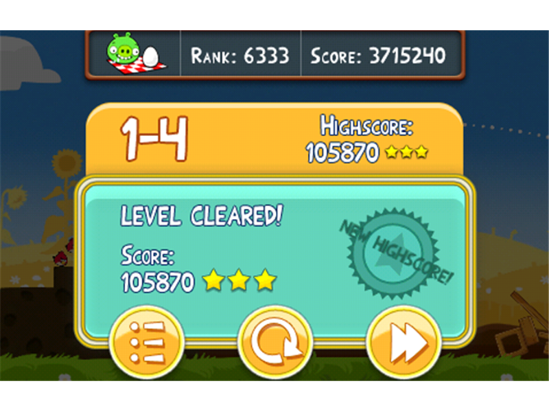 Highest Score on Level 1-4 Of