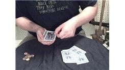 Most Cards Dealt Individually From The Top Of A Deck Of 52 Playing Cards With An Undisturbed Stack Of 10 Pennies On Top