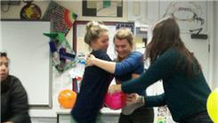 Most Balloons Popped By Two People Hugging In 30 Seconds