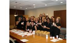 Most Women Eating Doughnuts And Drinking Coffee While Dressed In Black