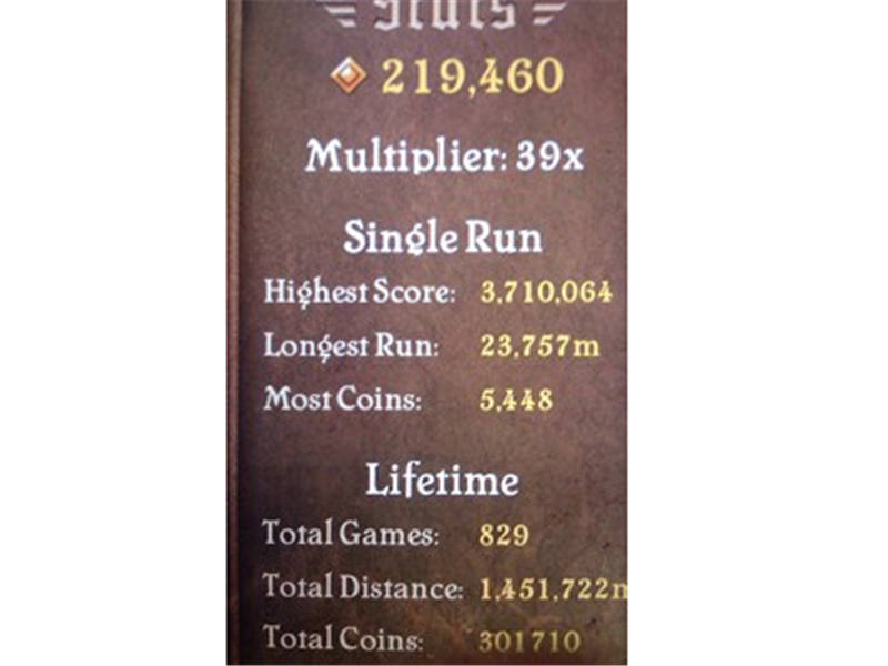 Farthest Distance Run In A Single Game Of