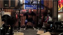 Most 230-Pound Squats Using A Cambered Squat Bar