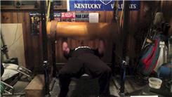 Most Reps Bench Pressing A 255-Pound Wooden Log