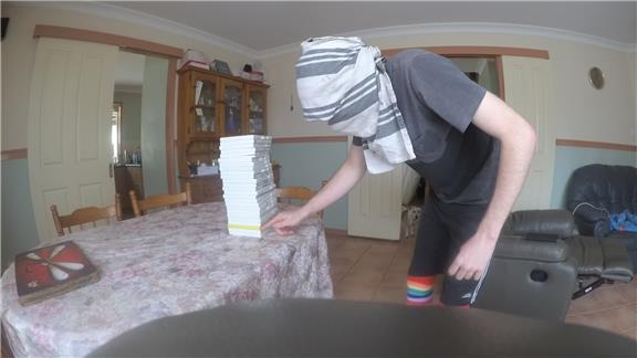 Most Wii Cases Balanced on Thumb