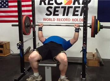 Most Reps Bench Pressing A 310-Pound Barbell (Athlete Under 235 Lbs.)