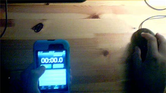 Most Consecutive Times To Stop An iPhone Stopwatch At Exactly 0.1 Second In 10 Seconds