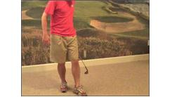 Most Golf Ball Bounces Over Leg Using A Golf Club In 30 Seconds