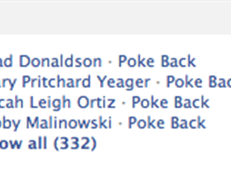 Most Facebook Pokes