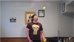Longest Time Juggling Two Tennis Balls Using One Hand