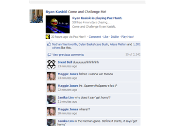 "Most ""liked"" facebook wall post"