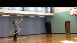 Longest Basketball Shot Made While Hula Hooping Using Two Hoops