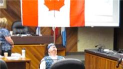 Longest Time Balancing Canadian Flag On Chin At A Government Meeting