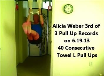 Most Full Rep Towel L Pull-Ups